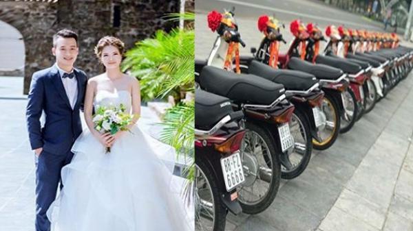 CỰC ĐỘC: 50 chiếc Dream thắt nơ đỏ trong đám cưới cặp đôi Vĩnh Phúc gây náo động đường phố