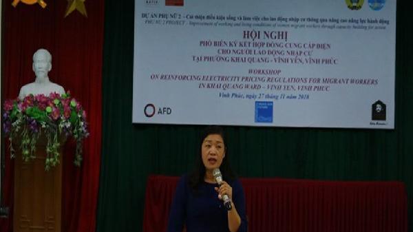 LĐLĐ tỉnh Vĩnh Phúc tổ chức phổ biến ký kết hợp đồng cung cấp điện