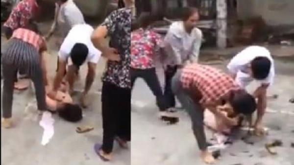 Bàng hoàng trước thái độ dửng dưng của người chồng nhìn vợ đánh nhân tình dã man tại Vĩnh Phúc