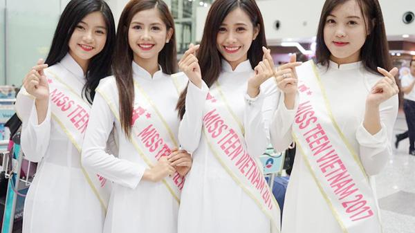 Nữ sinh Vĩnh Phúc cùng dàn Miss Teen Việt diện áo dài, nón lá đại náo sân bay Hàn Quốc