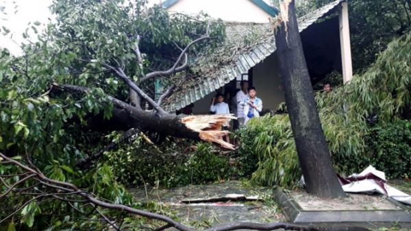 Hàng trăm nhà bị tốc mái khi bão số 10 đổ bộ