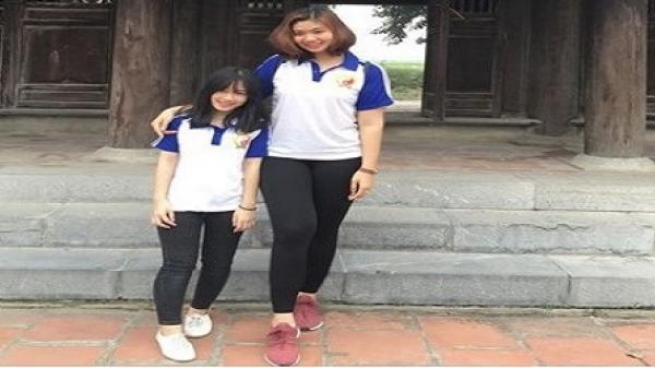 Vĩnh Phúc: Đôi bạn nữ trường Y lệch chiều cao 35cm gây sốt