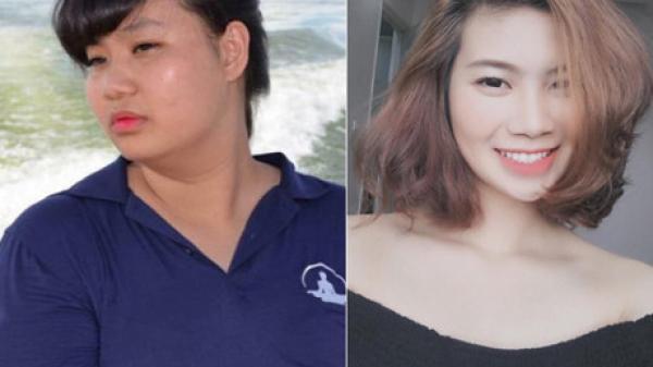 Cô gái nặng một tạ trở nên đẹp xuất sắc khi giảm hơn 30kg