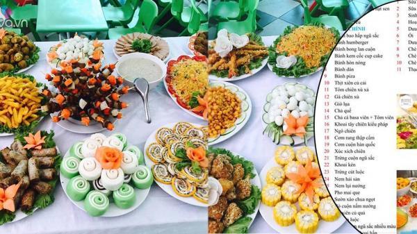 """Mâm buffet Trung thu 45 món của các bé mẫu giáo Vĩnh Phúc khiến dân mạng cũng """"thòm thèm"""""""