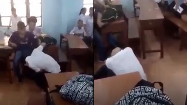 """Vĩnh Phúc: Táo tợn nhóm """"côn đồ"""" xin phép cô giáo vào lớp đánh người"""
