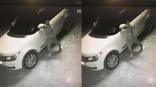 """Vĩnh Phúc: Kẻ gian """"vặt"""" gương xe Range Rover trong vòng 25 giây"""