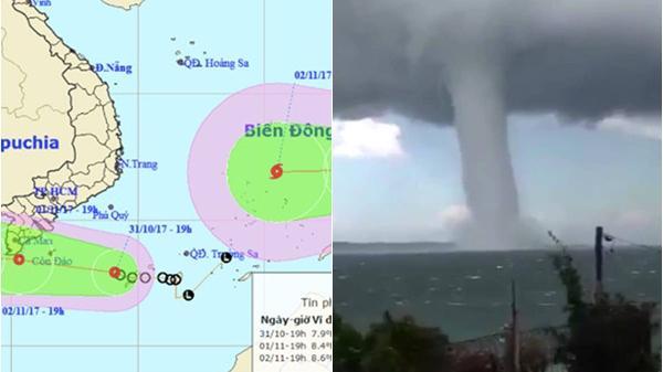 Thời tiết 1/11: Bão nối áp thấp vào biển Đông, khả năng có vòi rồng