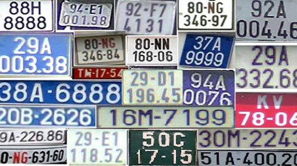 Biển số xe tại Việt Nam được sắp xếp theo quy luật nào?