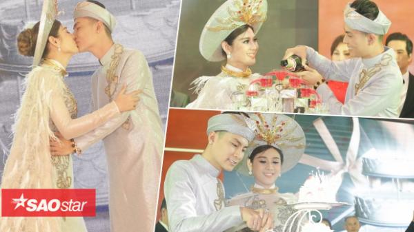 Lâm Khánh Chi hạnh phúc khóa môi ông xã điển trai kém 8 tuổi tại lễ cưới ở Vũng Tàu