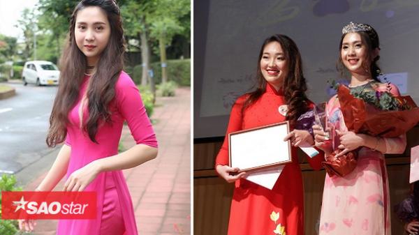 Nhan sắc nữ sinh quê Vũng Tàu giành vương miện cuộc thi Hoa khôi du học sinh Việt tại Nhật