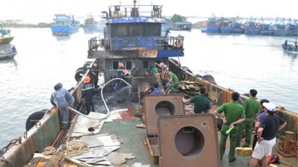 Bà Rịa-Vũng Tàu: Cháy tàu chở dầu DO thiệt hại gần 2 tỷ đồng