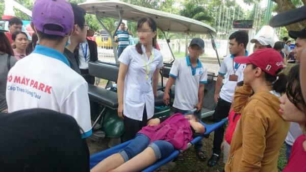 Đứt cáp trò chơi siêu nhún tại Vũng Tàu, nữ du khách ngã đập đầu xuống đất bất tỉnh