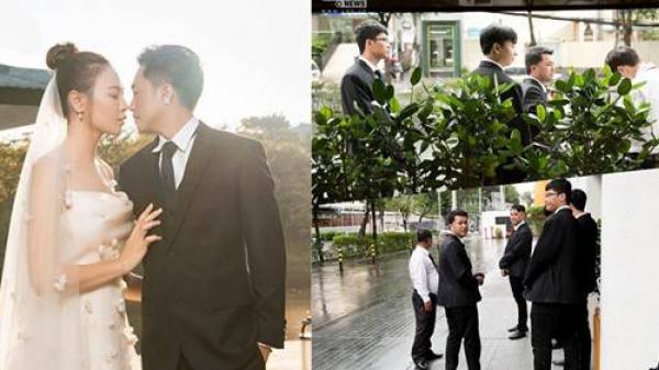Đàm Thu Trang - Cường Đôla thắt chặt an ninh, khách mời check-in 2 lớp bảo vệ trong tiệc cưới