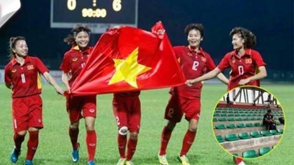 Bóng đá nữ ước có một trận CĐV đến cổ vũ kín sân như bóng đá nam