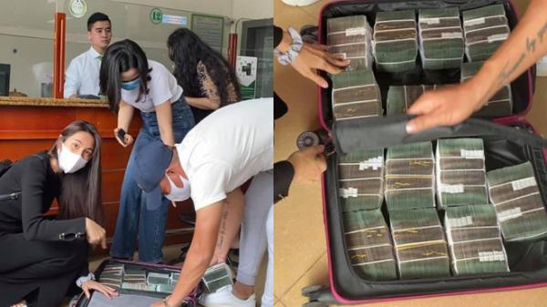 Thủy Tiên - Công Vinh về tới miền Trung, rút hàng vali tiền để cứu trợ đợt 2