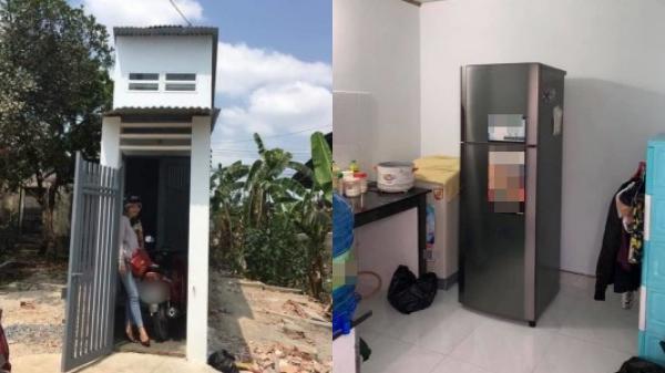 Phía trong ngôi nhà mỏng như lá lúa: Được sắm sửa đầy đủ vật dụng, có đầy đủ phòng khách, nhà tắm, nhà vệ sinh