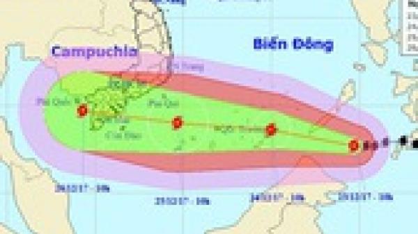 """Bão Tembin có thể mạnh hơn bão Linda, đổ bộ vào đất liền với """"cấp thảm họa"""""""