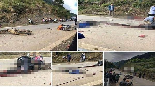 Va chạm xe máy 1 người tử vong tại chỗ, 2 người nhập viện