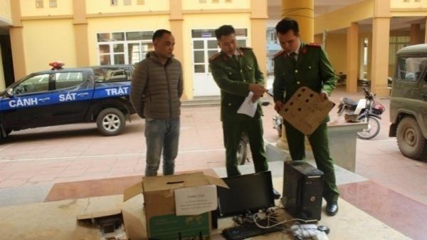 Phá đường dây 18 lái xe container đánh bạc qua mạng do đối tượng Yên Bái cầm đầu