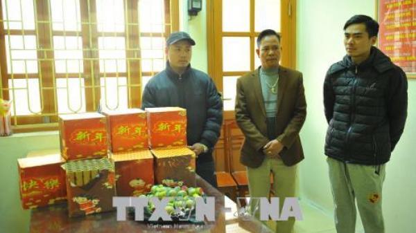 Ninh Bình:Bắt hai thanh niên vận chuyển trái phép 20kg pháo