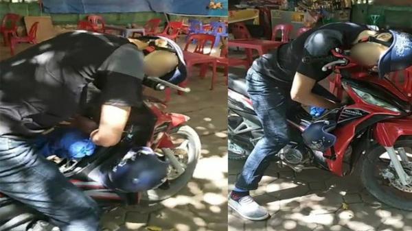 HOANG MANG: Nam thanh niên gục c.hết trên xe máy trước quán trà đá giữa trời nắng