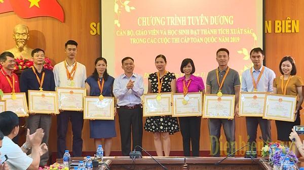 Điện Biên: Tuyên dương 17 học sinh đạt giải thi cấp quốc gia năm học 2018 - 2019