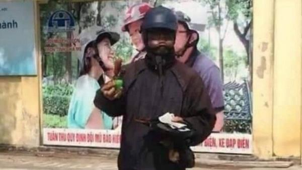 """Cảnh sát truy tìm đối tượng đóng giả """"ăn mày mặt đen"""" ở Hải Dương"""