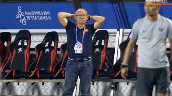 HLV Park Hang-seo cực thần thái khi Văn Hậu ghi bàn mở tỷ số ở trận chung kết SEA Games 30