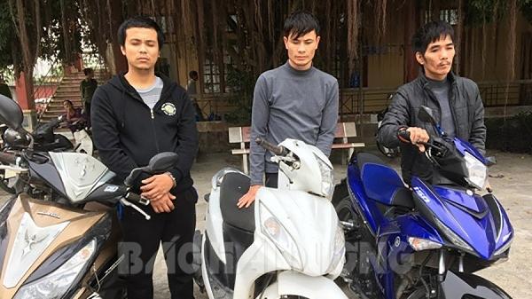 Nhóm trộm xe máy liên tỉnh sa lưới