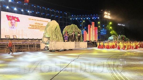 Tổng duyệt chương trình Lễ công bố thị xã Kinh Môn