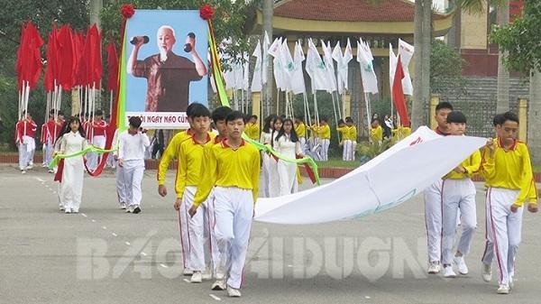 Thanh Hà: Huyện đầu tiên tổ chức Hội khỏe Phù Đổng