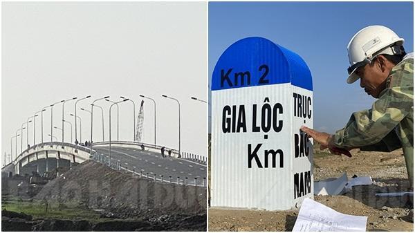 Đường trục Bắc - Nam trước ngày thông xe