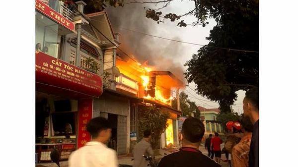 Cháy nhà do chập điện