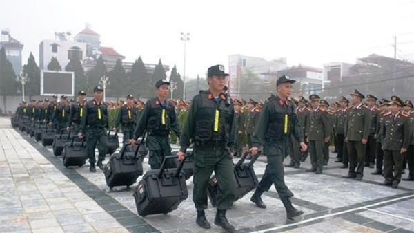 Điện Biên ra quân bảo đảm ANTT dịp Tết Nguyên đán và đại hội Đảng các cấp