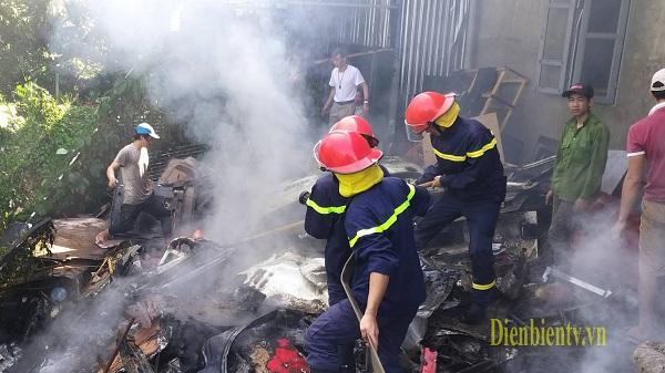 Điện Biên: Cháy gara ô tô Anh Quốc tại Phường Him Lam