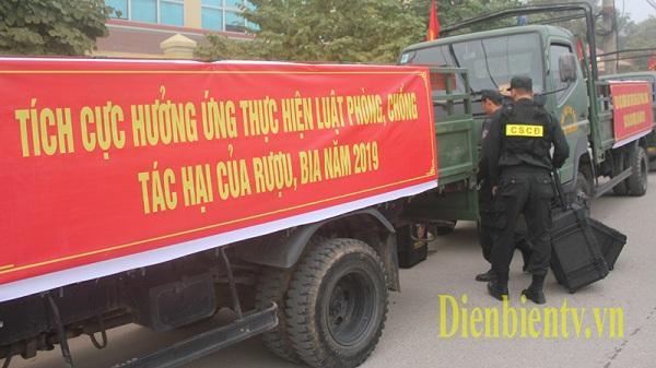 """Giám đốc Công an tỉnh Điện Biên yêu cầu """"Lực lượng CSGT xử lý thật nghiêm các trường hợp vi phạm về nồng độ cồn"""""""