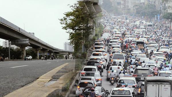 """Cảnh tượng khác lạ tại những """"điểm đen"""" ùn tắc giao thông của Hà Nội giữa mùa dịch Covid-19"""