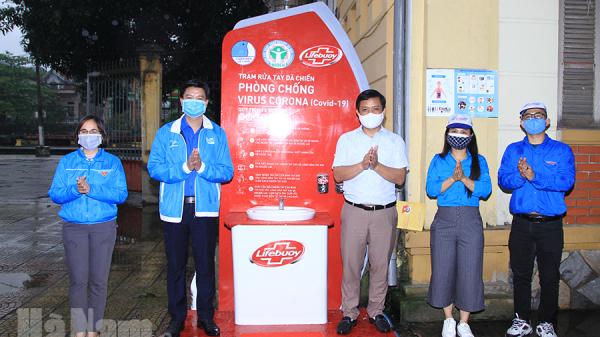 Hà Nam: Bàn giao trạm rửa tay dã chiến phòng, chống dịch bệnh Covid -19 tại Ga Phủ Lý