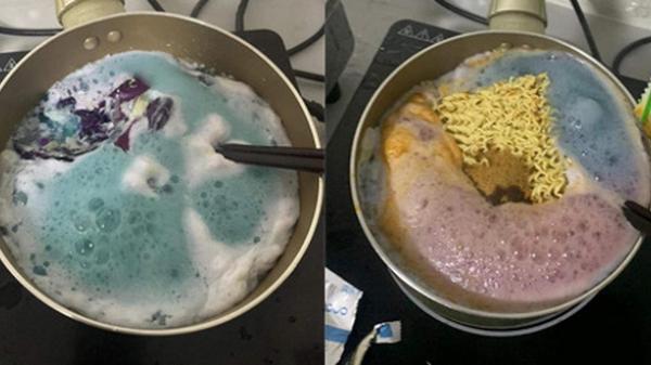 """Được bạn cùng phòng nấu mì tôm kiểu mới cho ăn, chàng trai ngỡ ngàng tưởng đang điều chế """"thuốc độc"""" trên bếp"""