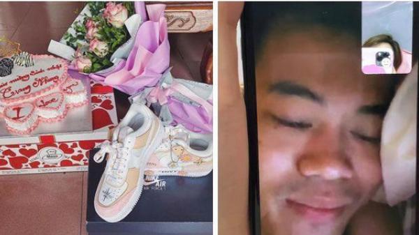 """Sau 6 năm yêu nhau, lần đầu tiên Văn Toàn và bạn gái phải đón sinh nhật """"online"""" vì Covid-19"""