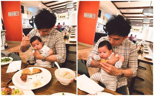 Đan Trường luôn khẳng định rằng anh vô cùng hạnh phúc khi được làm bố ở độ tuổi U40. Mặc dù rất nổi tiếng và bận rộn với các show diễn, anh Bo vẫn dành nhiều thời gian để tự tay chăm sóc con.
