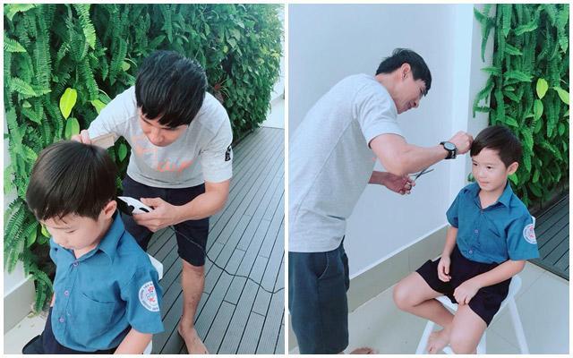 Là ông bố nhiều con nhất nhì showbiz Việt, Lý Hải cùng vợ thường xuyên bị bắt gặp trong tình trạng tay xách nách mang, tất bật cùng đàn con nhỏ.