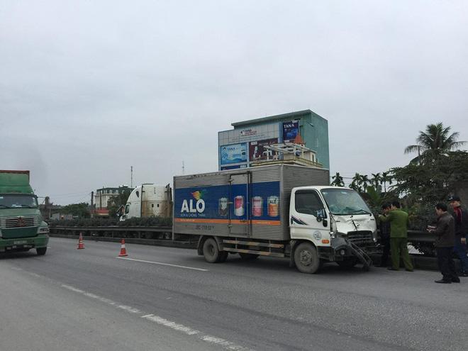 Chiếc xe tải gây ra vụ tai nạn.
