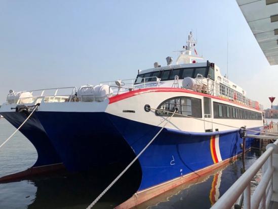 Tàu cao tốc TP HCM - Côn Đảo chuẩn bị chạy thử nghiệm để đưa vào hoạt động chính thức