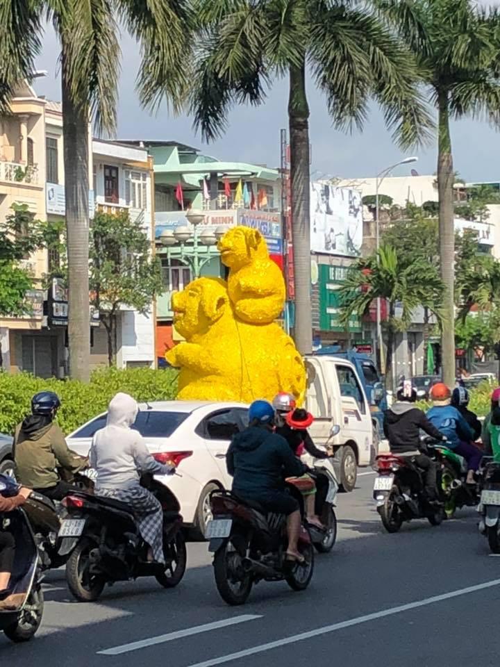 Heo đi xe hơi đến từ Đà Nẵng! (Ảnh: Phuong Ha)