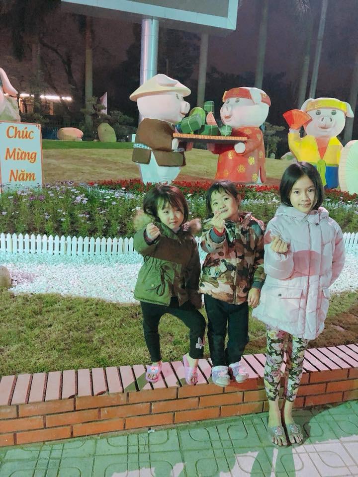 Heo diện đồ truyền thống đến từ Thái Nguyên. Ảnh: Facebook.