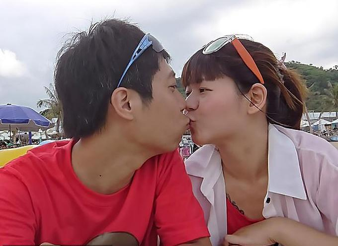 Tài xế taxi Wu Meng-yu và vợ