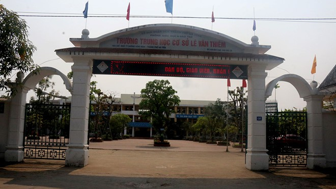 Trường THCS Lê Văn Thiêm. Ảnh Tiến Hiệp