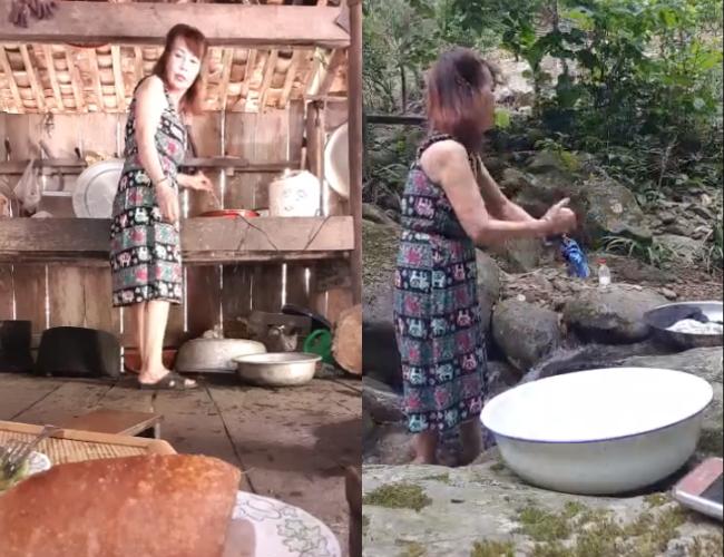 Cô dâu 62 tuổi tất bật ra suốt giặt giũ, nấu cơm cho bố mẹ chồng