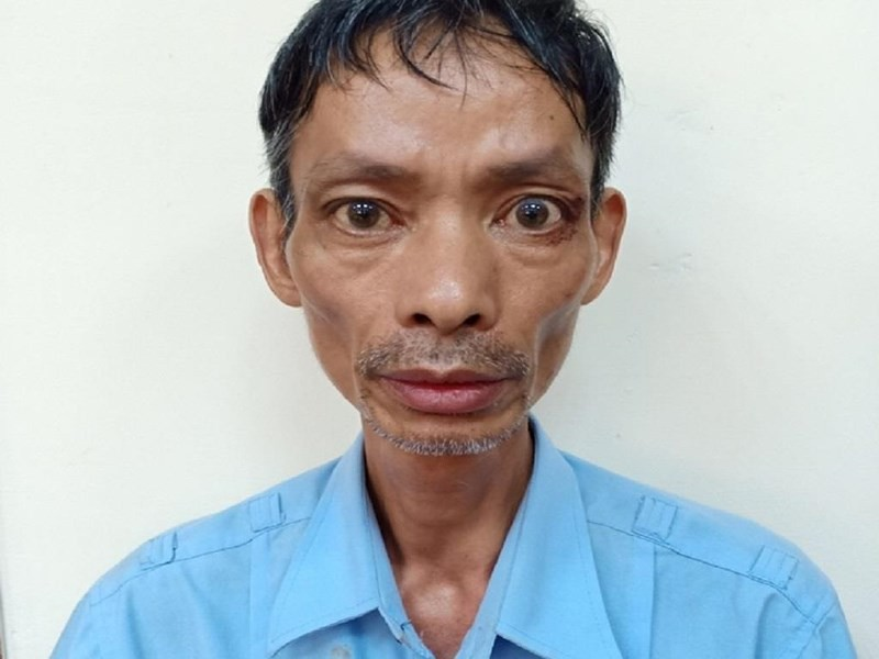 Nghi phạm Đỗ Khắc Phong tại cơ quan công an.